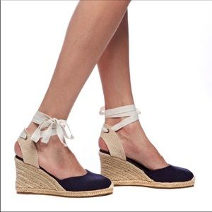 Soludos Mallorca Espadrille Wedges Size 8